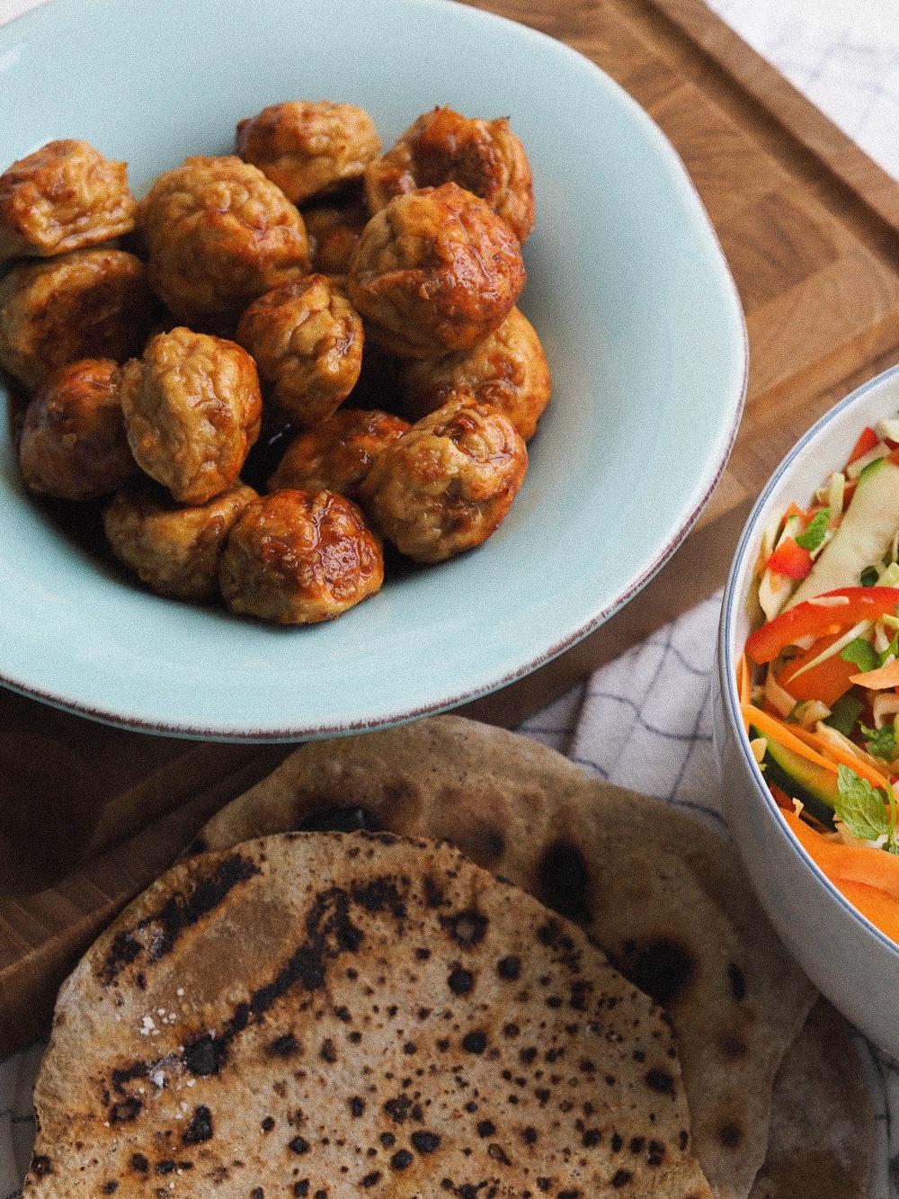 Asiatiske kødboller i hoisin sauce