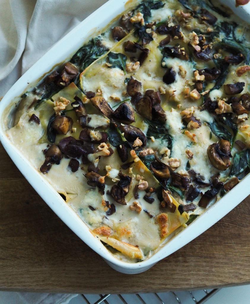 Vegetar lasagne med spinat