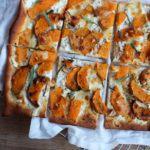Hvid pizza med butternutsquash og ricotta