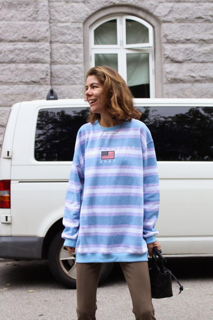 Oversize sweatshirt fra ASOS