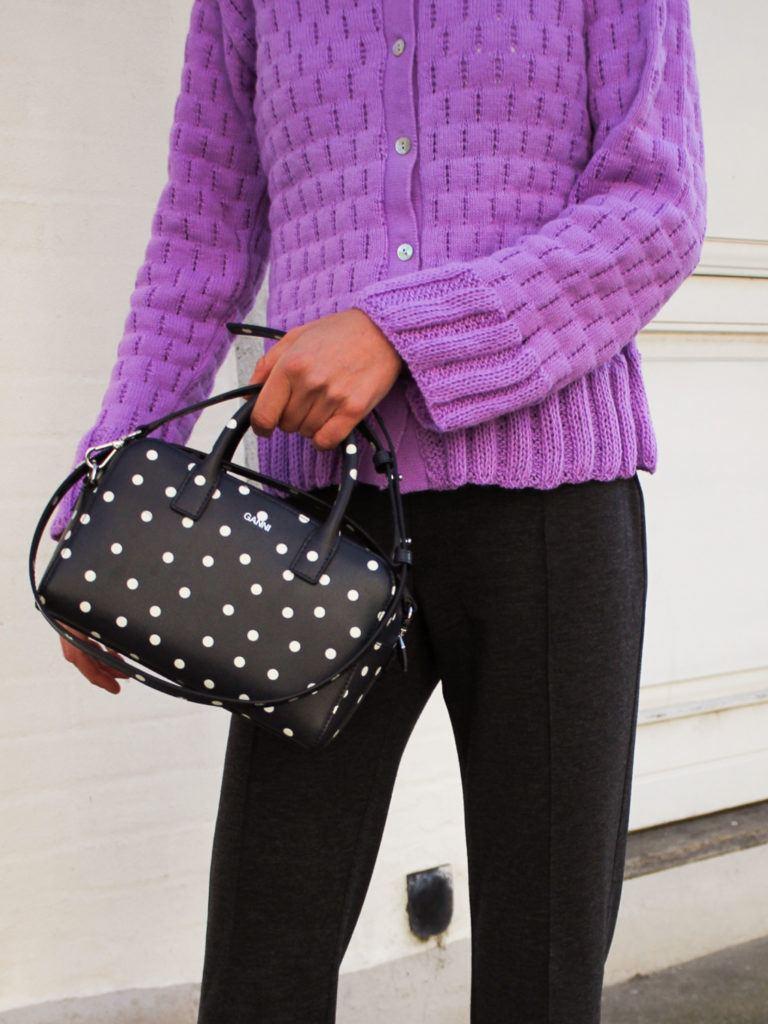 Ganni taske og Secondhandstrik