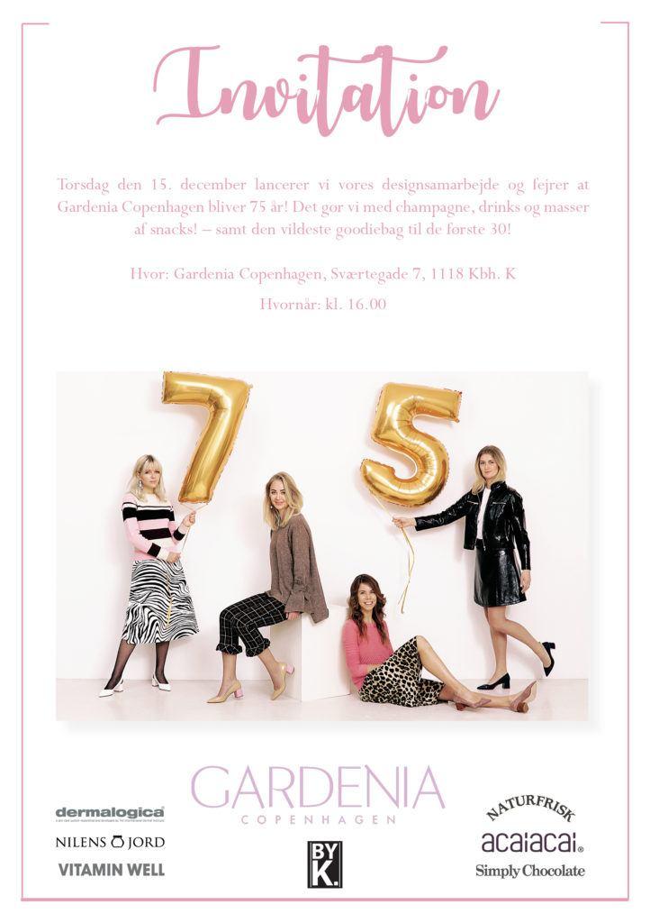 INVITATION TIL #GARDENIA75-LANCERING 1